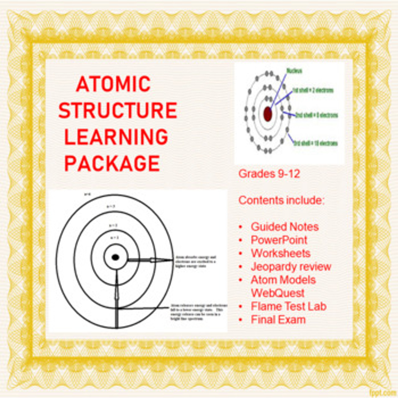 hight resolution of Atomic Structure Learning Activities (Distance Learning) - Amped Up Learning