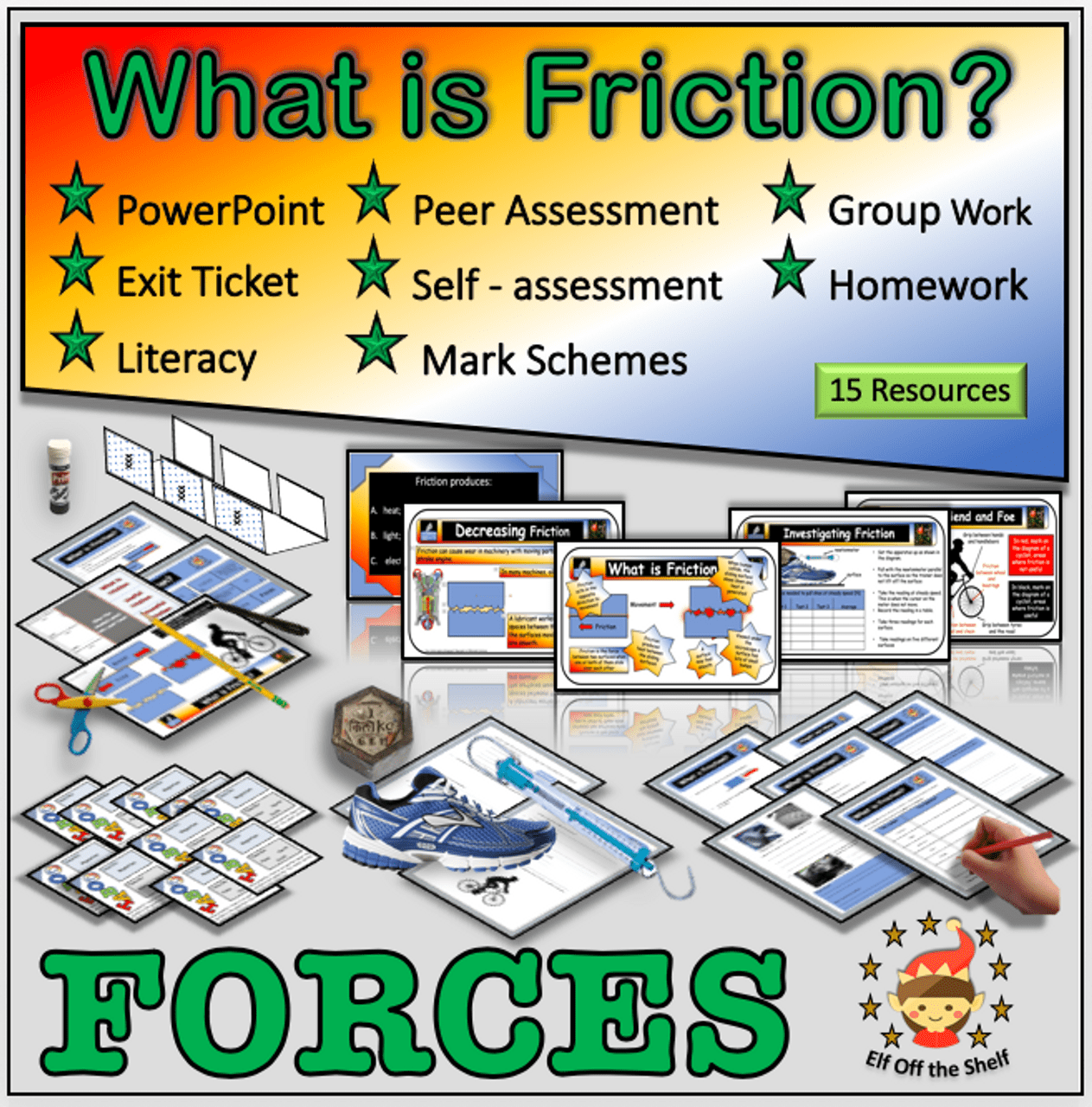Forces - What is friction? - Middle School Science - Amped Up Learning [ 1280 x 1263 Pixel ]