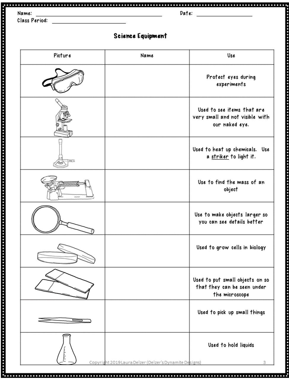 hight resolution of Lab Equipment Identification Worksheets. 36 items! - Amped Up Learning