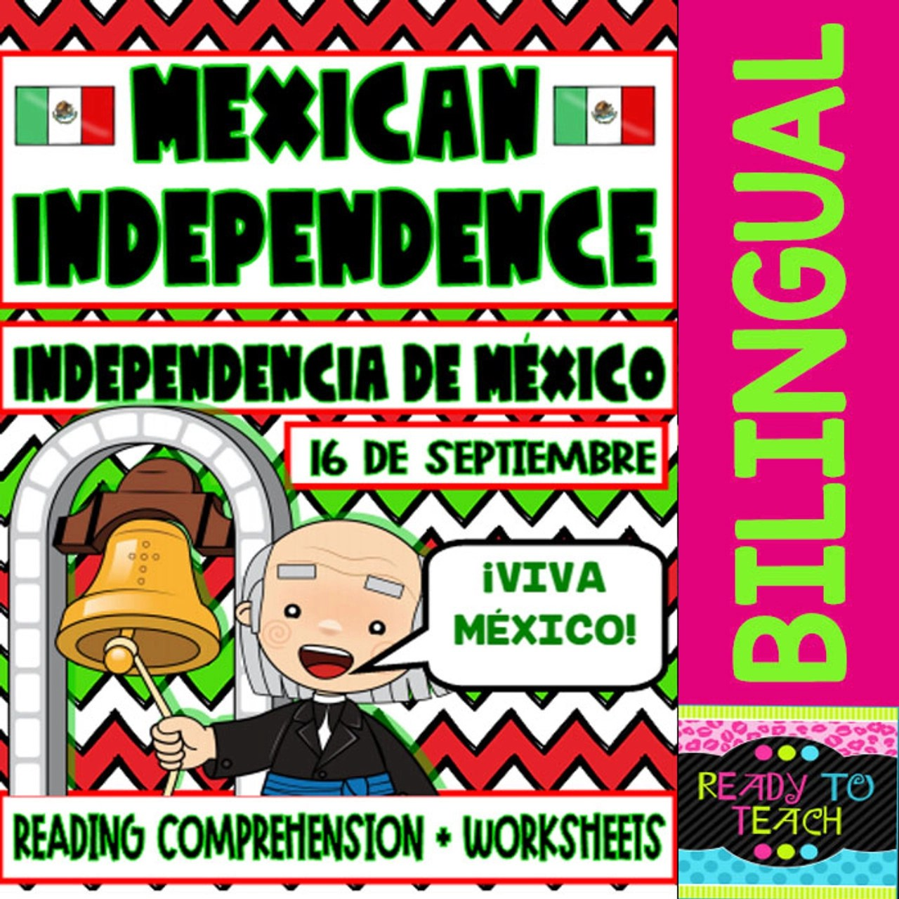 small resolution of Mexican Independence - Independencia de Mexico - Reading and Worksheets -  Bilingual - Amped Up Learning