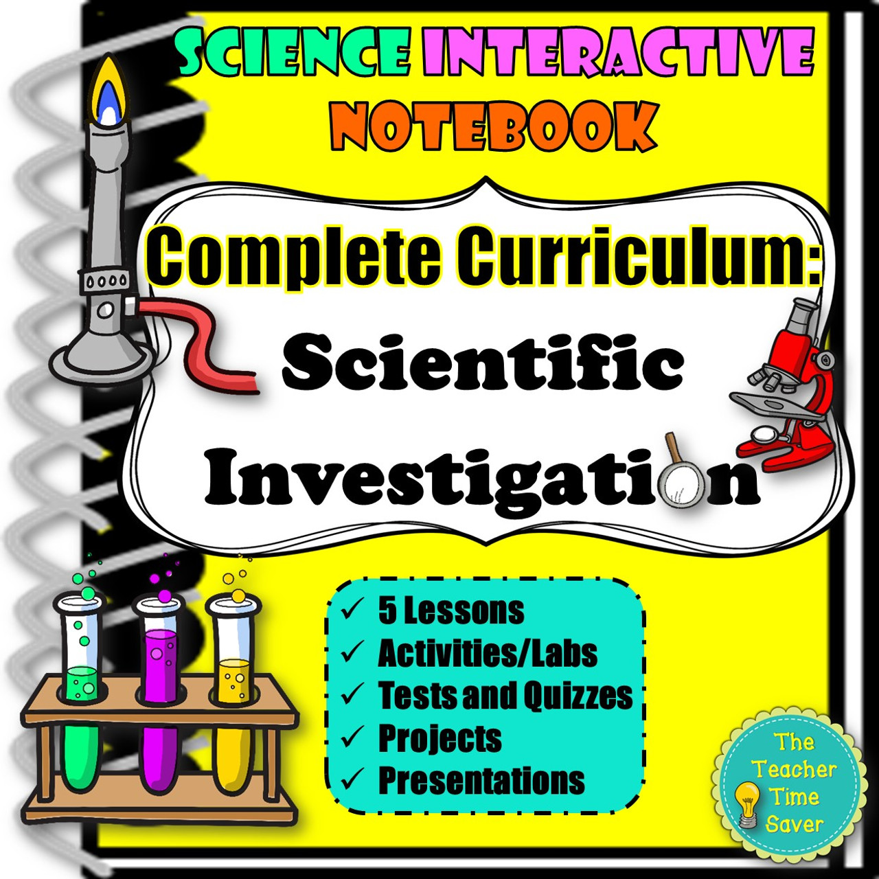 SCIENTIFIC INVESTIGATION \u0026 SCIENTIFIC METHOD INTERACTIVE NOTEBOOK COMPLETE  BUNDLE - Amped Up Learning [ 1280 x 1280 Pixel ]