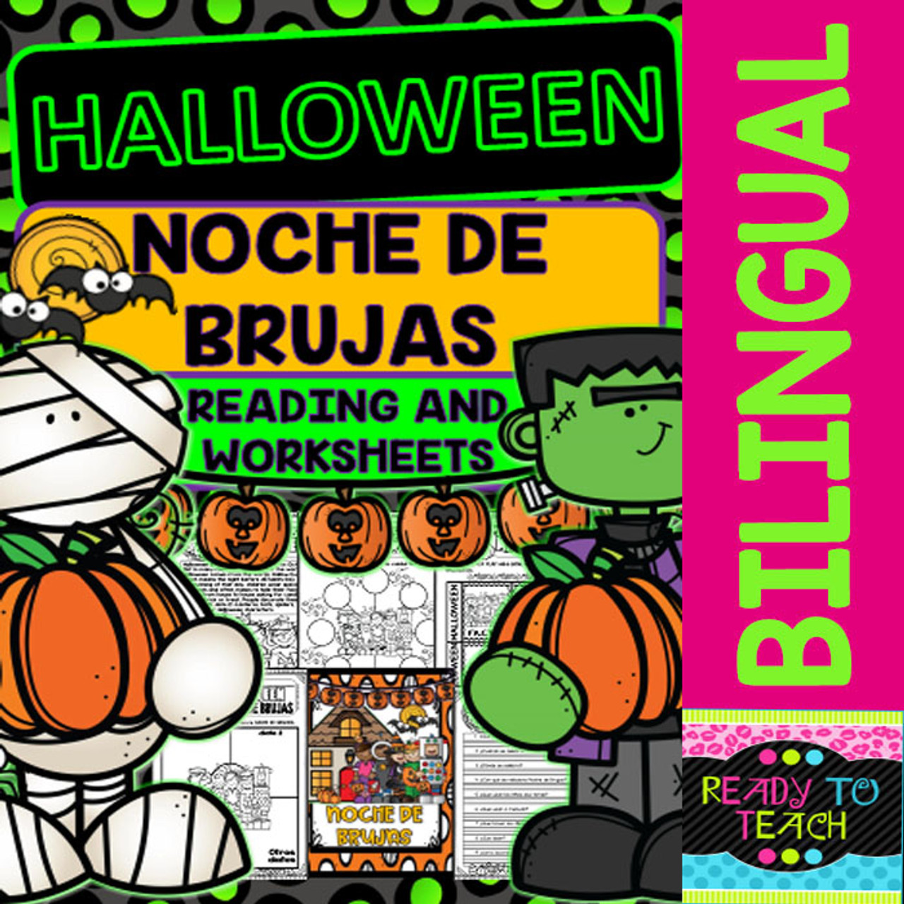 small resolution of Halloween - Noche de Brujas - Reading and Worksheets - Bilingual - Amped Up  Learning