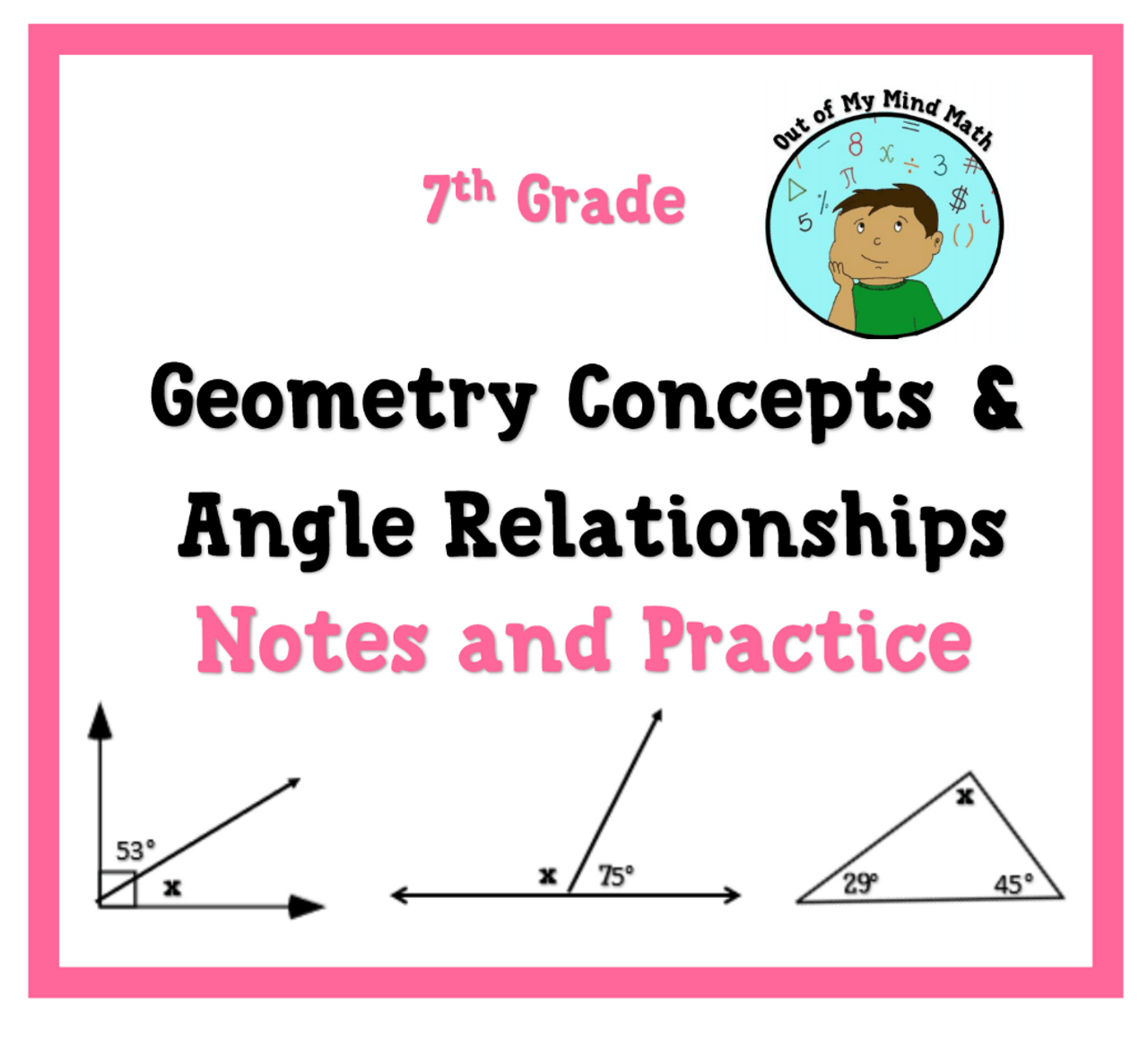 hight resolution of Geometry Concepts \u0026 Angle Relationships Bundle