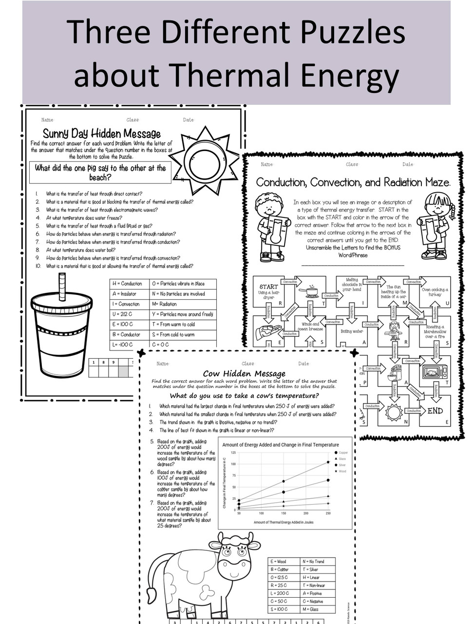Thermal Energy Review Puzzles NGSS MS-PS-3-3 [ 1280 x 975 Pixel ]