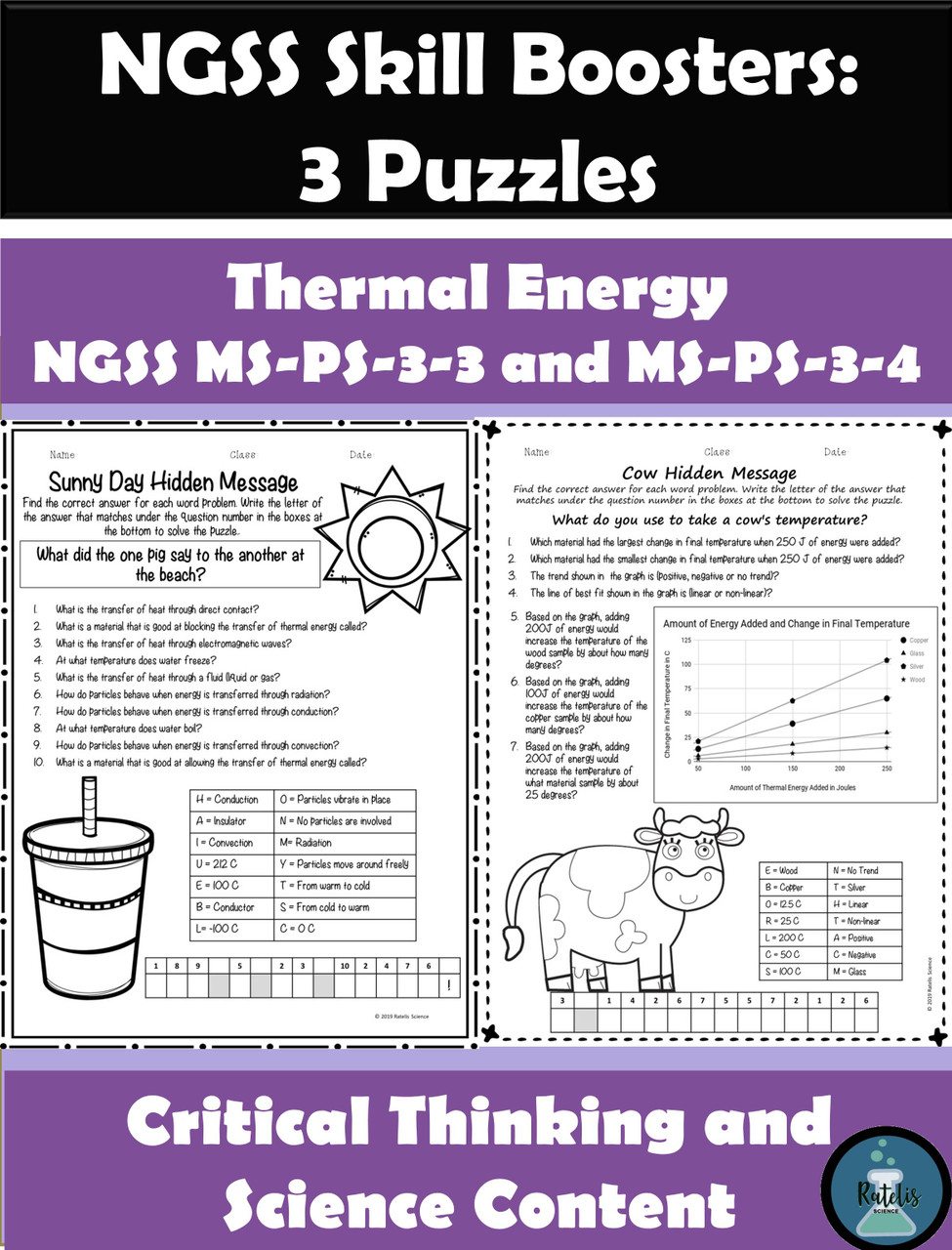 hight resolution of Thermal Energy Review Puzzles NGSS MS-PS-3-3