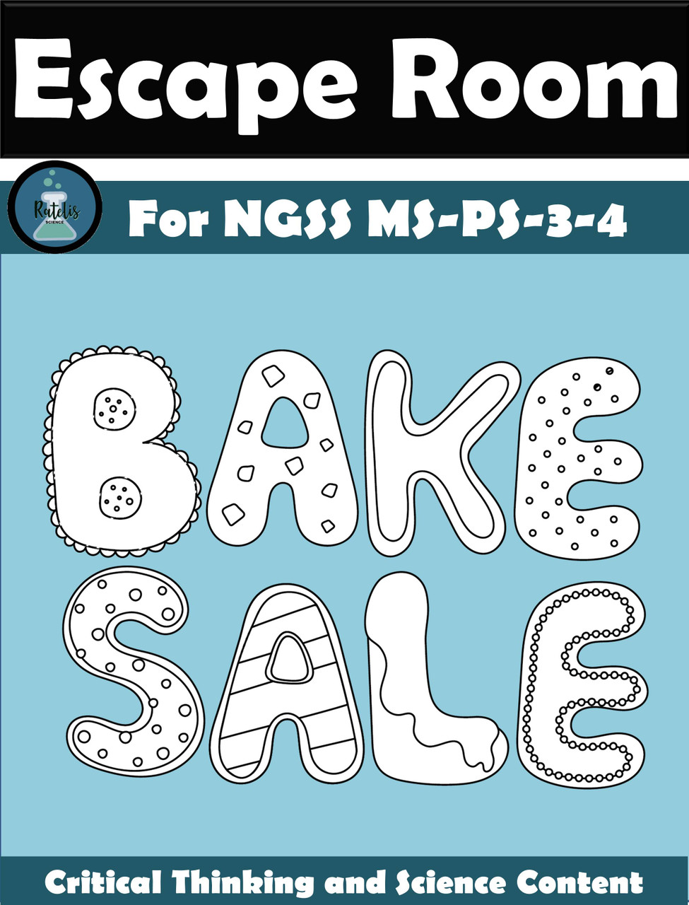 Escape Room: Thermal Energy NGSS MS PS-3-4 \Bake Sale\ [ 1280 x 975 Pixel ]