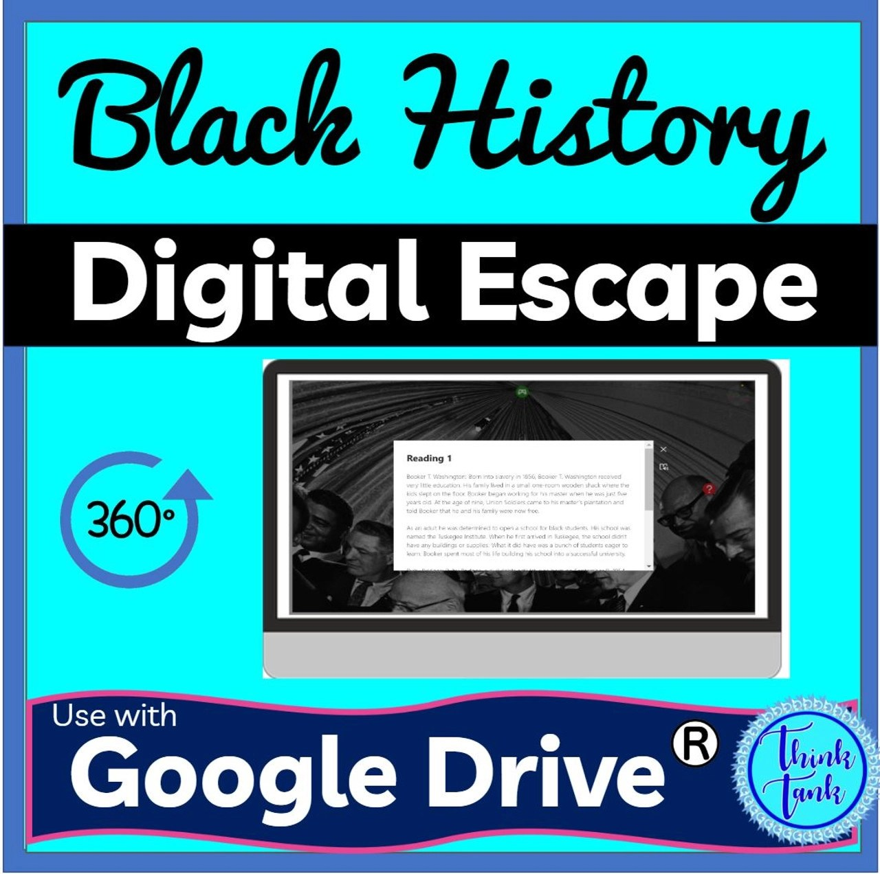 Black History Digital ESCAPE ROOM for Google Drive® - Amped Up Learning [ 1272 x 1280 Pixel ]