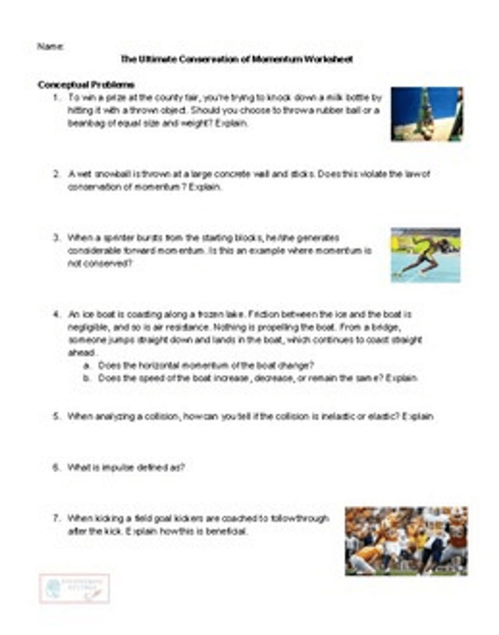 hight resolution of The Ultimate Conservation of Momentum Worksheet - Amped Up Learning