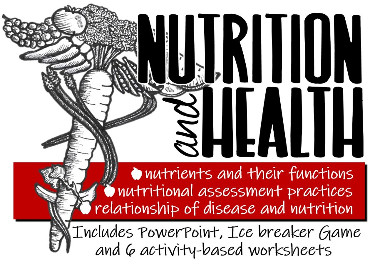 The Relationship of Nutrition \u0026 Health- PPT with Icebreaker Game \u0026 6  Activities - Amped Up Learning [ 900 x 1280 Pixel ]