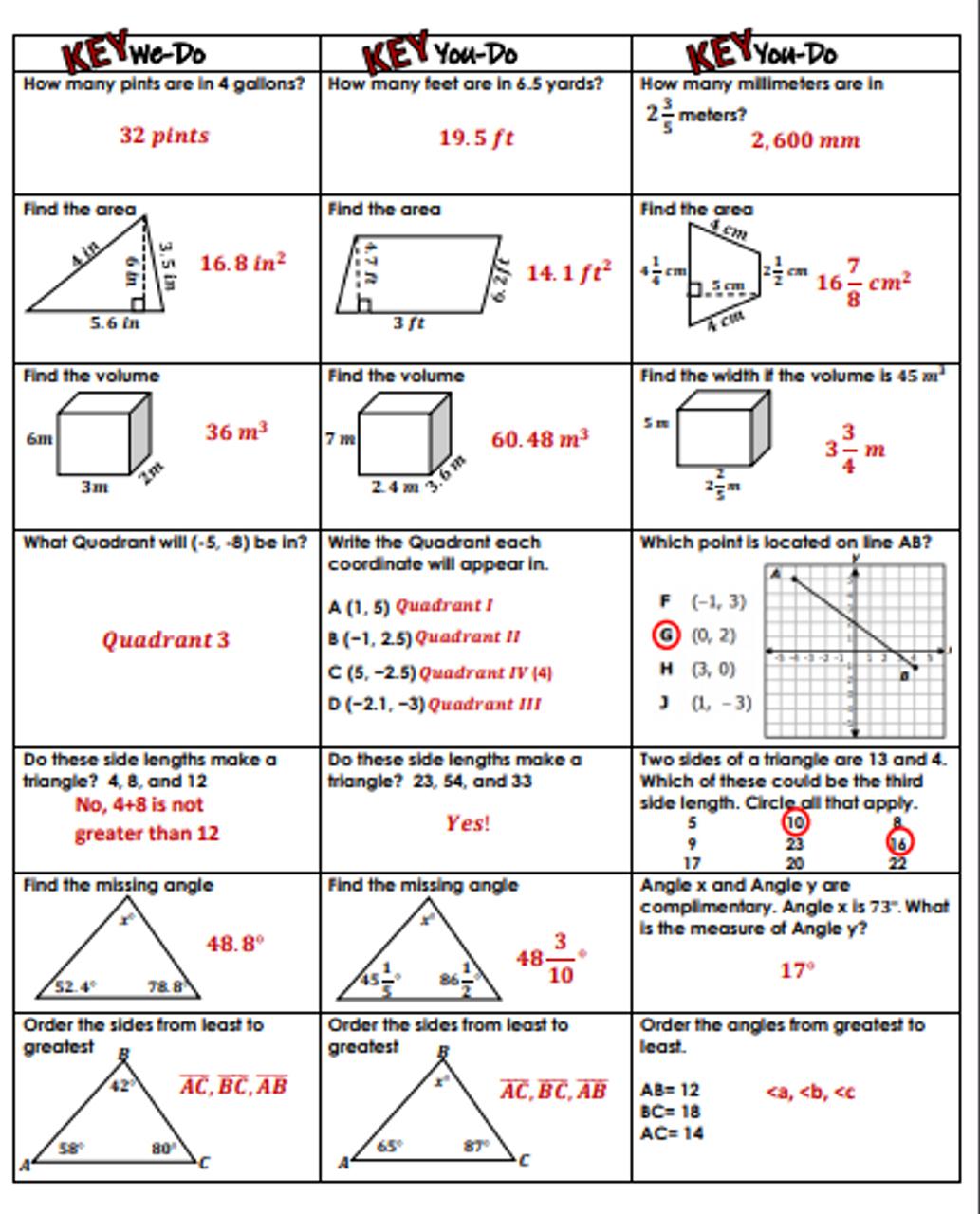 medium resolution of 6th Grade Geometry Review- We-Do