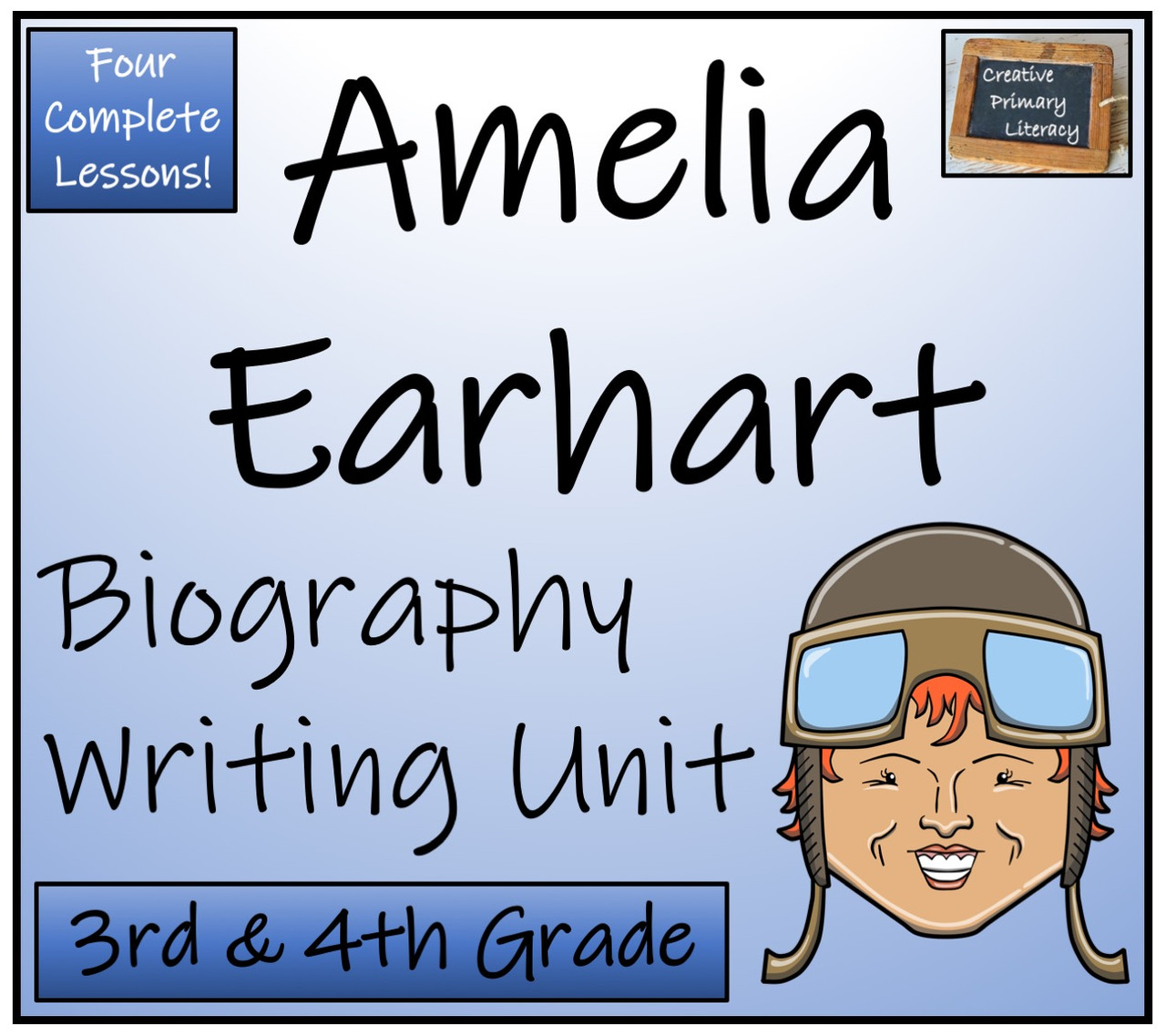 medium resolution of Amelia Earhart - 3rd \u0026 4th Grade Biography Writing Activity - Amped Up  Learning