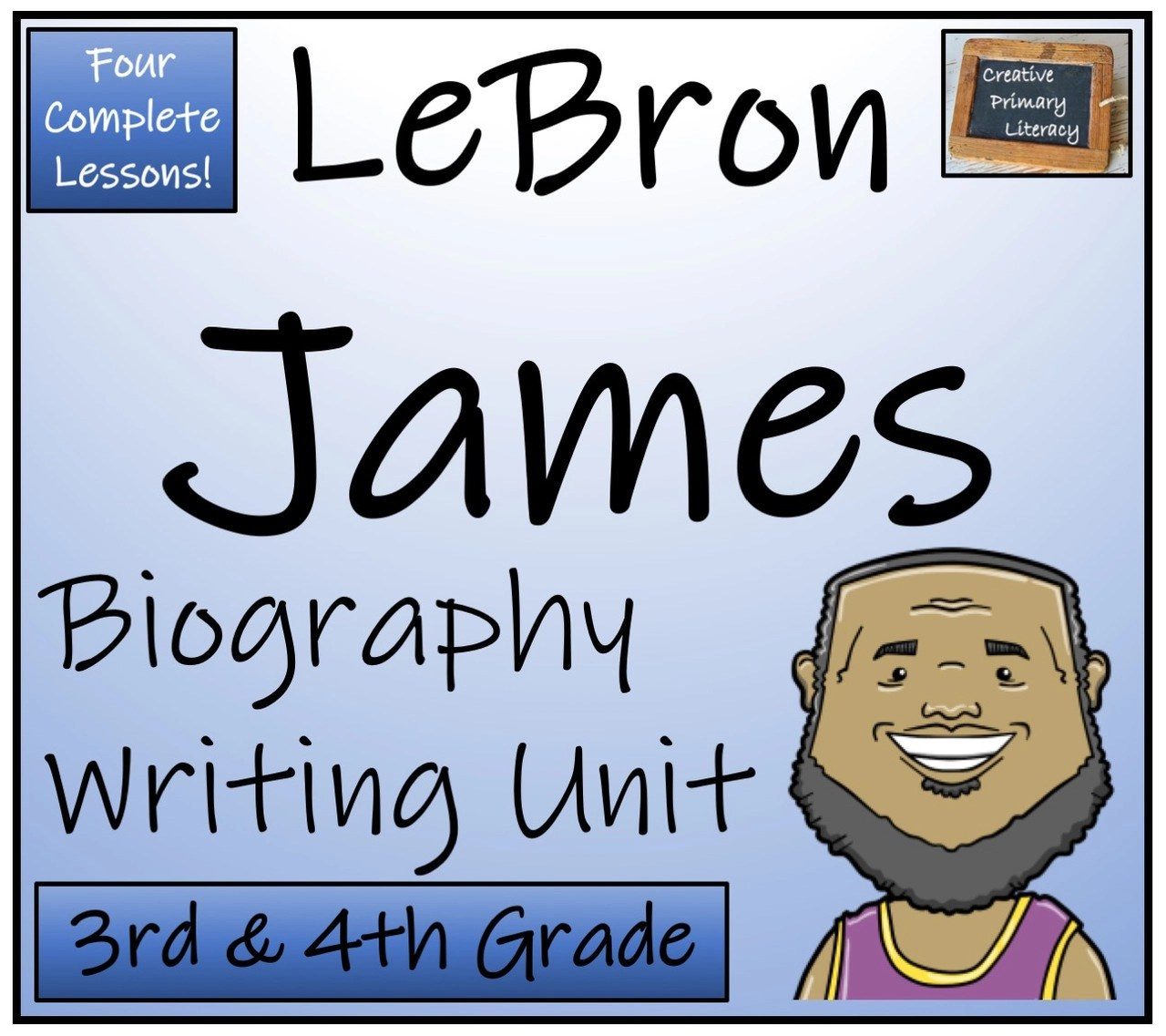 LeBron James - 3rd \u0026 4th Grade Biography Writing Activity - Amped Up  Learning [ 1137 x 1280 Pixel ]