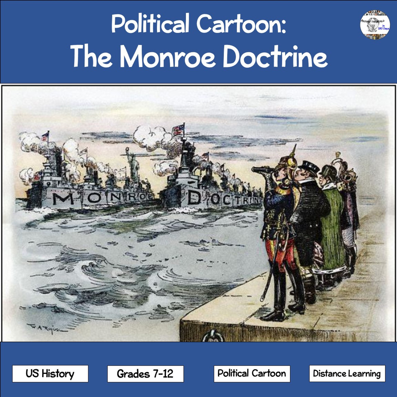 Political Cartoon: The Monroe Doctrine - Amped Up Learning [ 1280 x 1280 Pixel ]