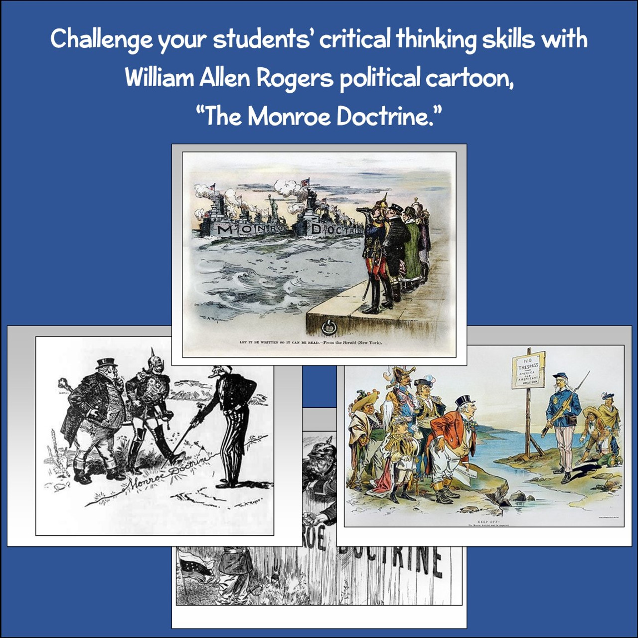 small resolution of Political Cartoon: The Monroe Doctrine - Amped Up Learning