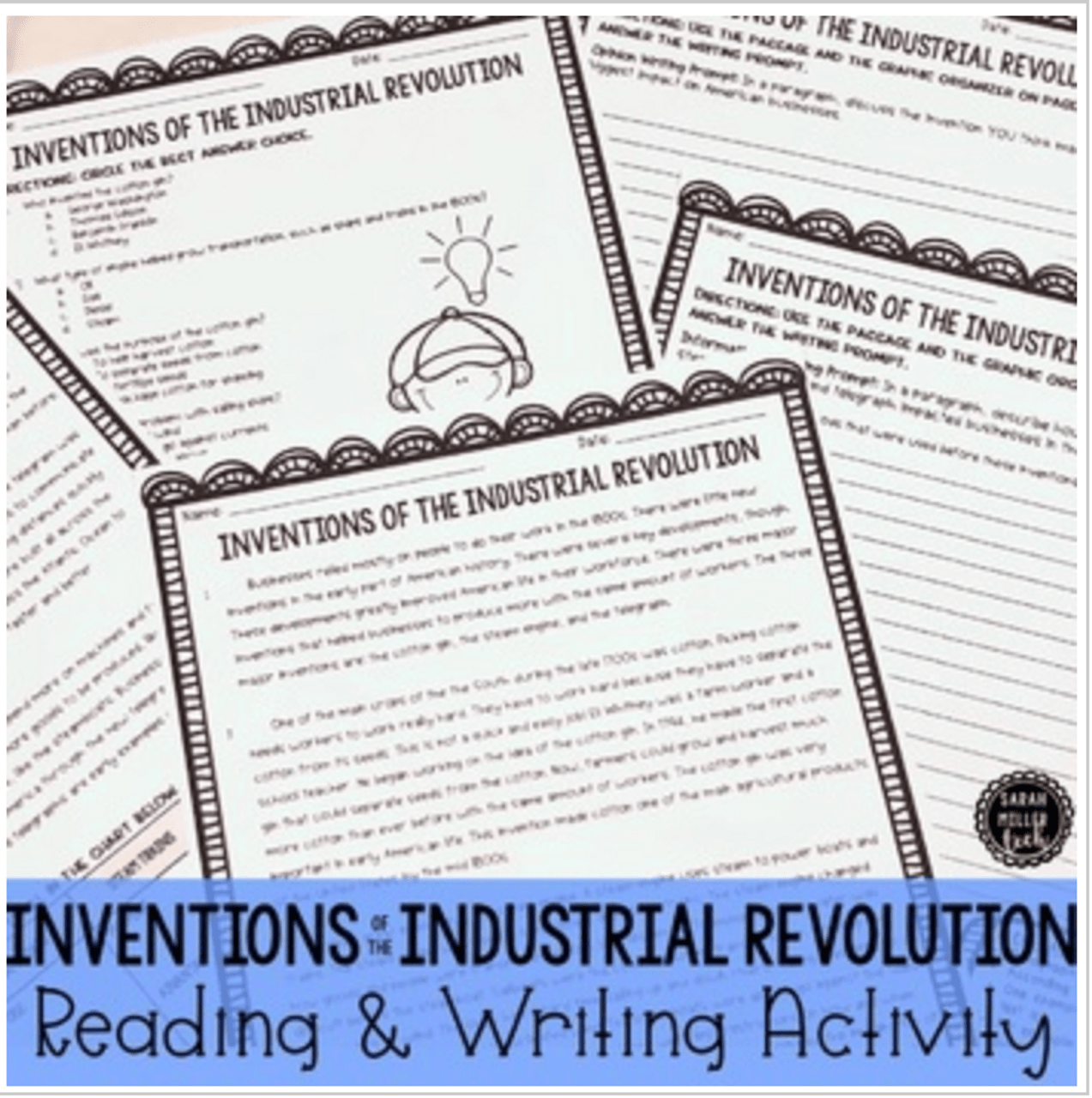 Inventions of Industrial Revolution Reading Packet (SS4E1f) - Amped Up  Learning [ 1280 x 1273 Pixel ]