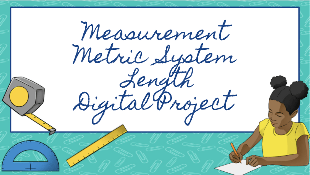 medium resolution of Measurement Metric System Length Digital Project - Amped Up Learning