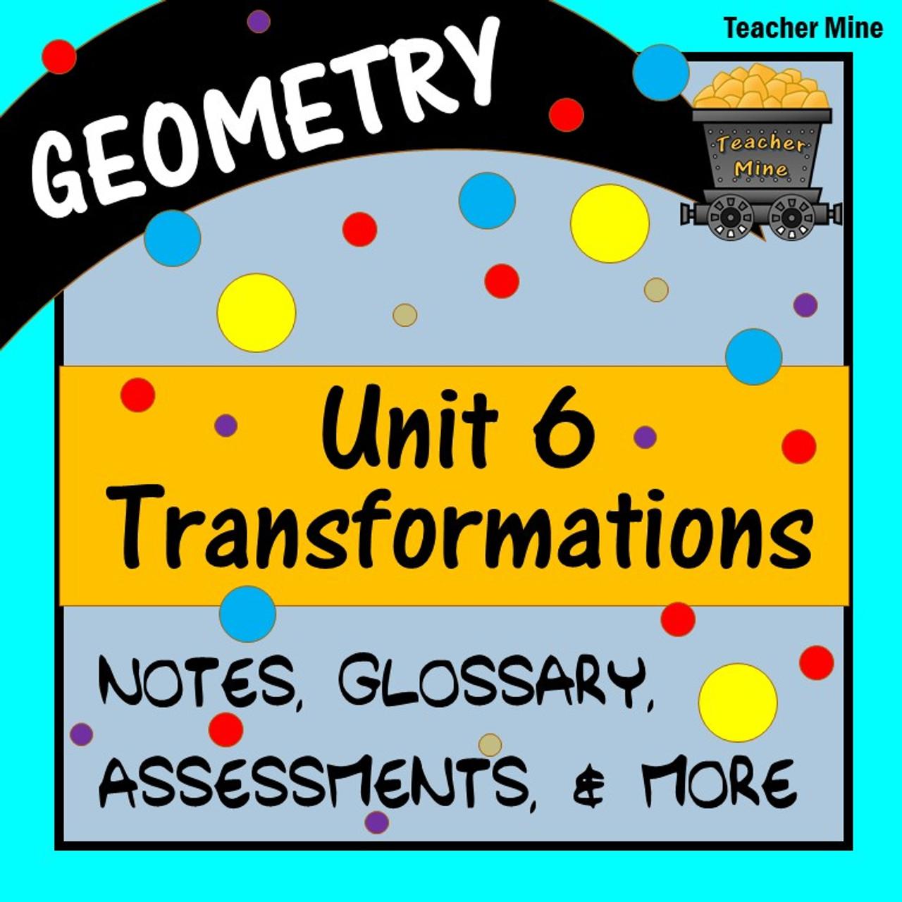 Transformations (Geometry - Unit 6) [ 1280 x 1280 Pixel ]