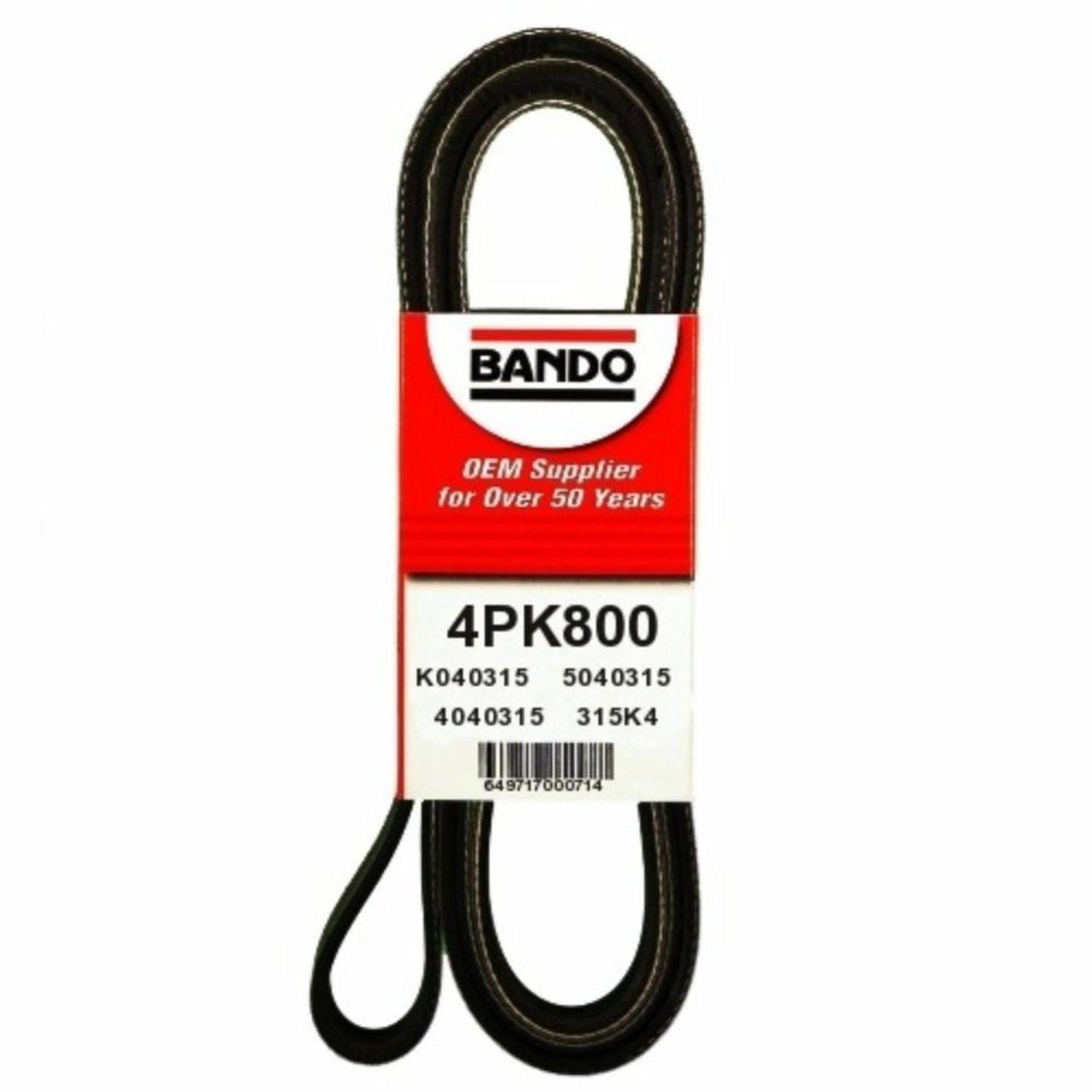 hight resolution of 4pk800 oem equivalent serpentine belt for 1998 honda civic mechanidrive com