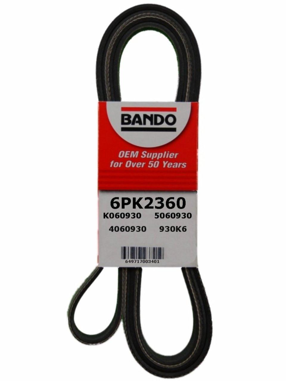 hight resolution of 6pk2360 oem equivalent serpentine belt for 2000 chevrolet tahoe mechanidrive com