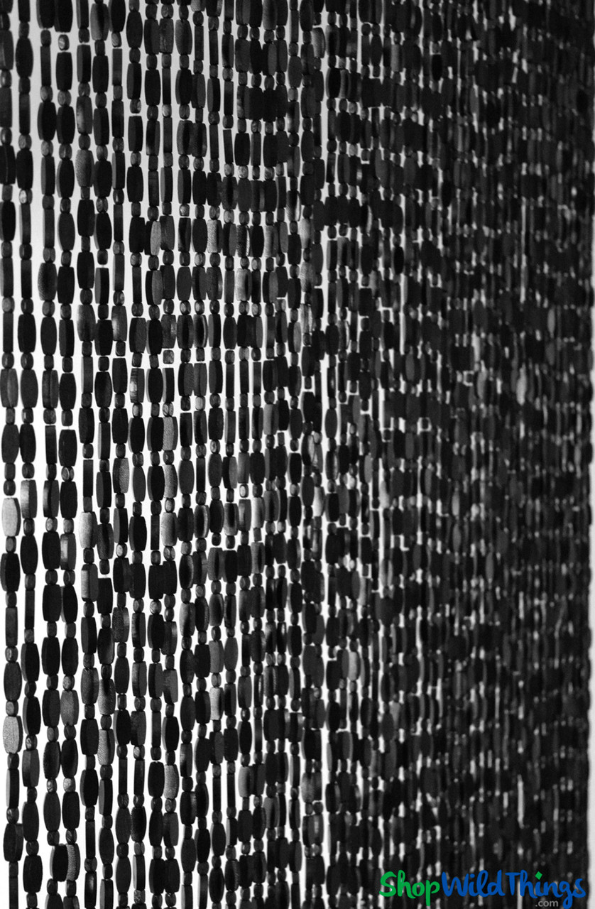 wooden bead curtain ashford black 35 1 2 x 77 52 strands extra coverage