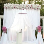 Chuppah Ceremony Canopy Kit Ivory White Or Black Shopwildthings Com
