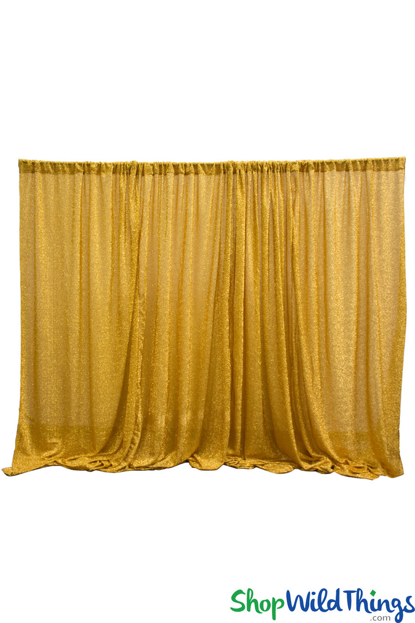 shiny lurex spandex event curtain 10 tall x 20 wide ceiling drape or backdrop metallic gold