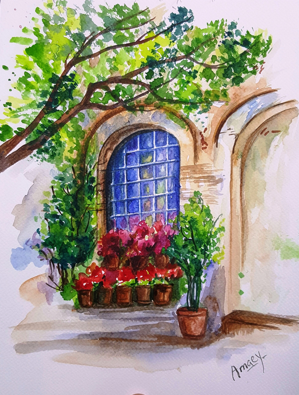 the arched window art