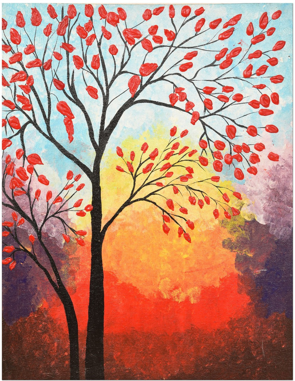 red tree art 3384