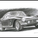 Buy Ferrari 250 Gt Realistic Illustration Handmade Painting By Arjun Bavalia Code Art 7306 46153 Paintings For Sale Online In India