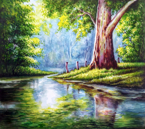 Buy NATURE  Watercolour Painting Handmade Painting by