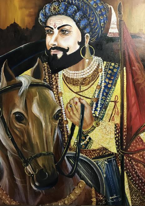 Ganapati Wallpaper Hd Buy Chatrapati Shivaji Maharaj Handmade Painting By Sonali