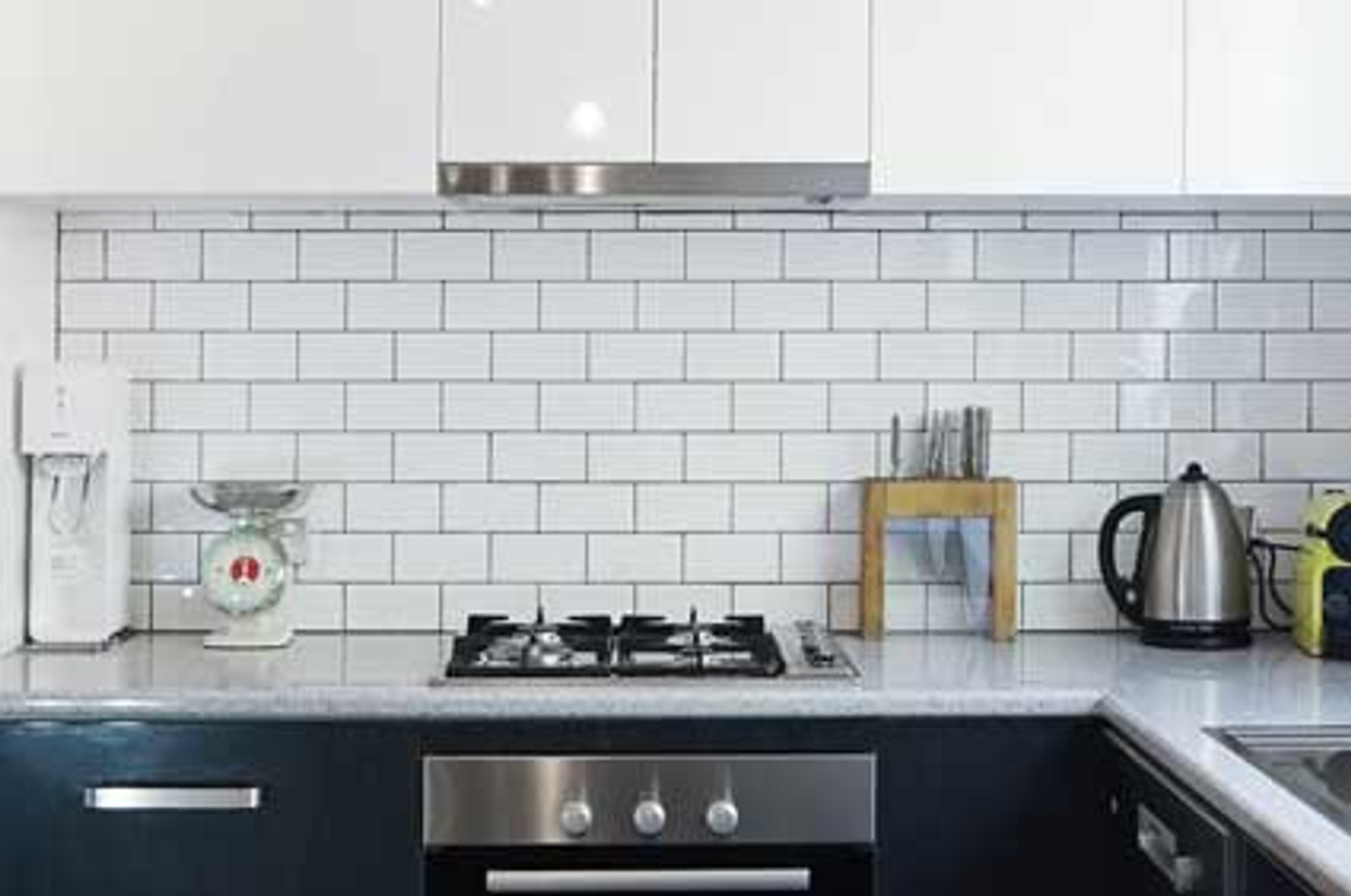 white gloss subway wall tiles 75x150mm