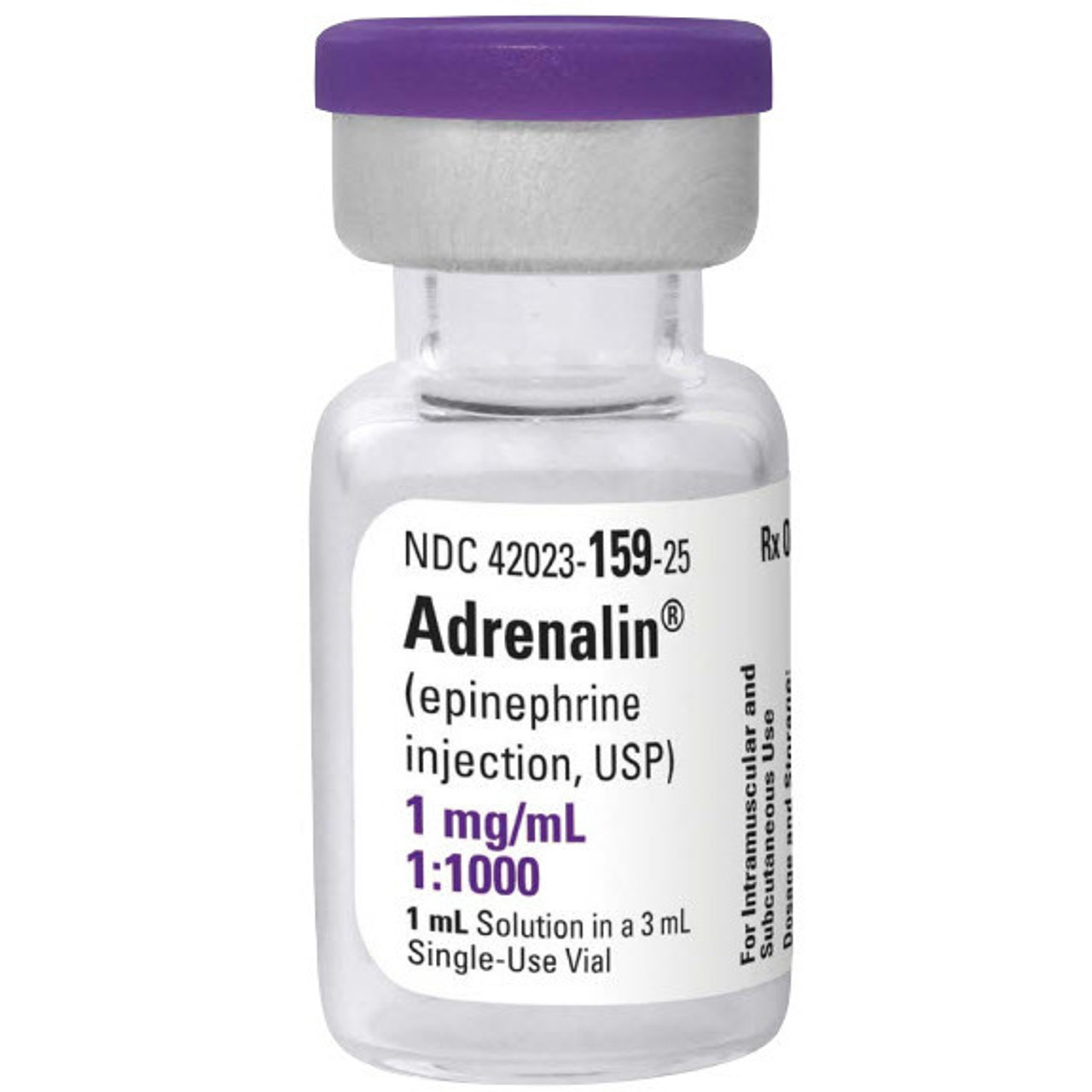 Epinephrine 1mg/ml Vial 1:1000 for Anaphylaxis - Each ...