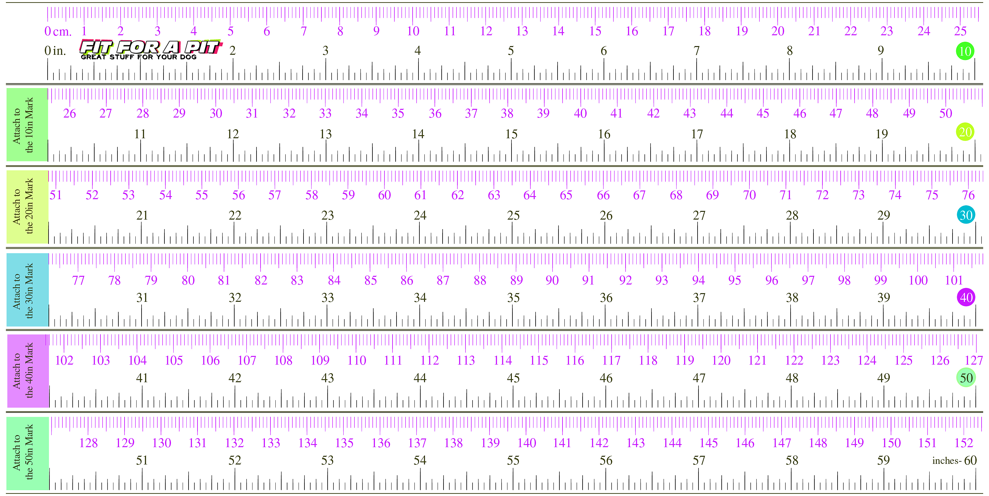 Fit For A Pit Printable Measuring Tape