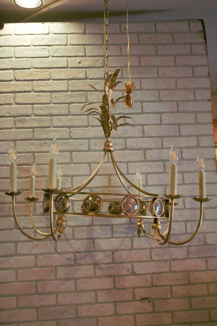 e f chapman gramercy 8 light gilded chandelier ceiling light