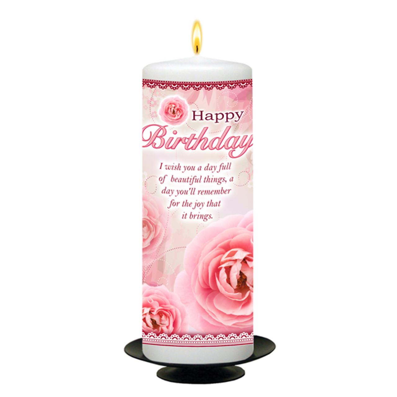 personalised pink flowers happy