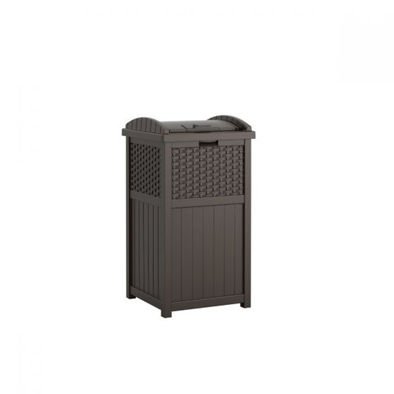 wicker java trash can ghw1732 for deck or patio