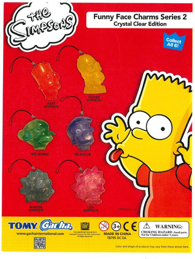Homer Simpson Funny Face : homer, simpson, funny, Simpsons, Funny, Charms, Crystal, Clear, Edition, Vending, Capsules, CandyMachines.com