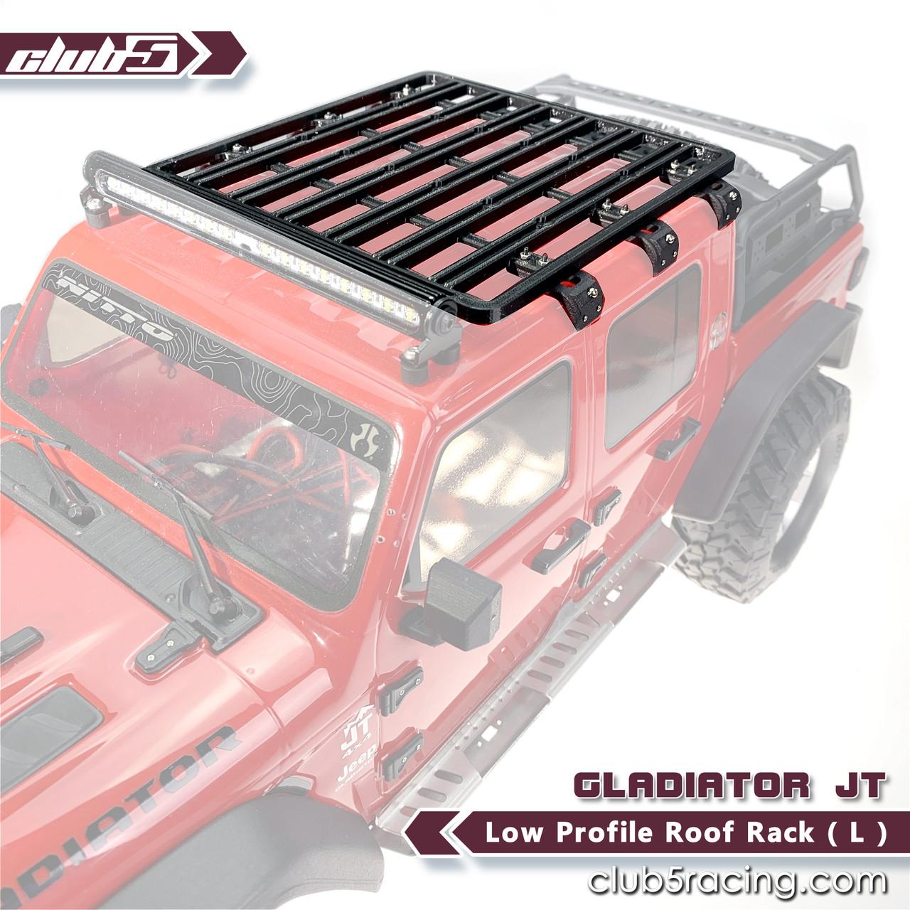 low profile roof rack l for scx10 iii jeep jl wrangler jt gladiator 3dp