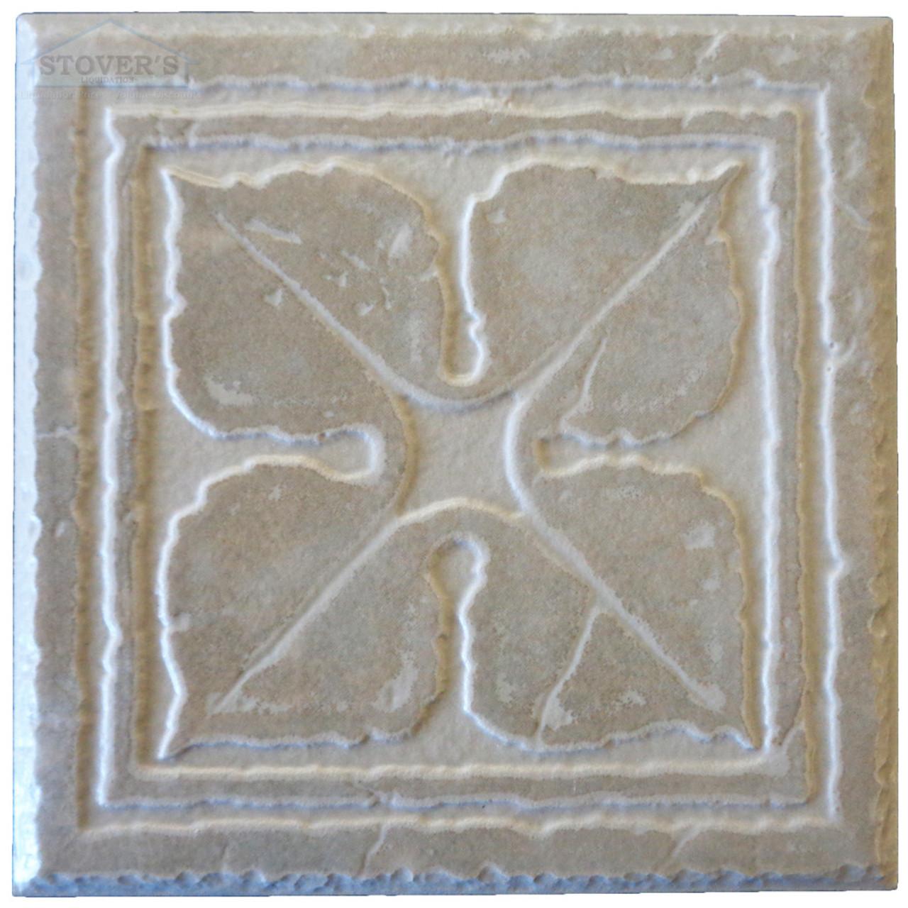 4x4 porcelain deco interceramic set of 4 cinder
