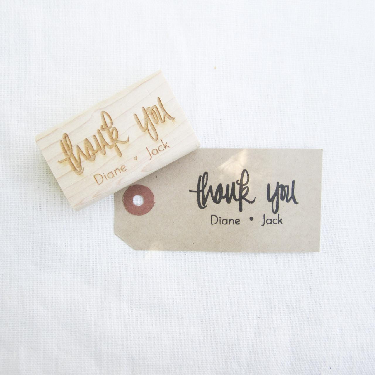 wedding favor stamp thank