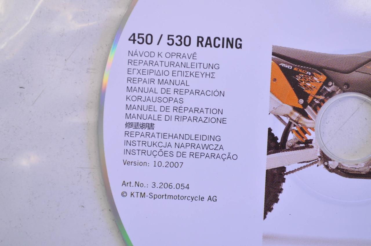 hight resolution of ktm 2008 450 530 racing repair manual cd disc 3206054 nos