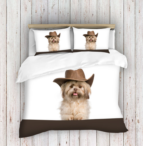 Cowboy Puppy Duvet Covers  3D Digital Printed Bedding Sets
