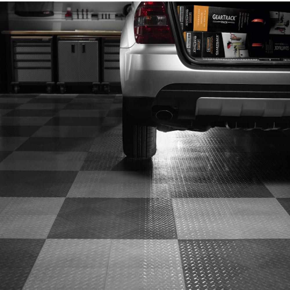 gladiator charcoal floor tile 4 pack
