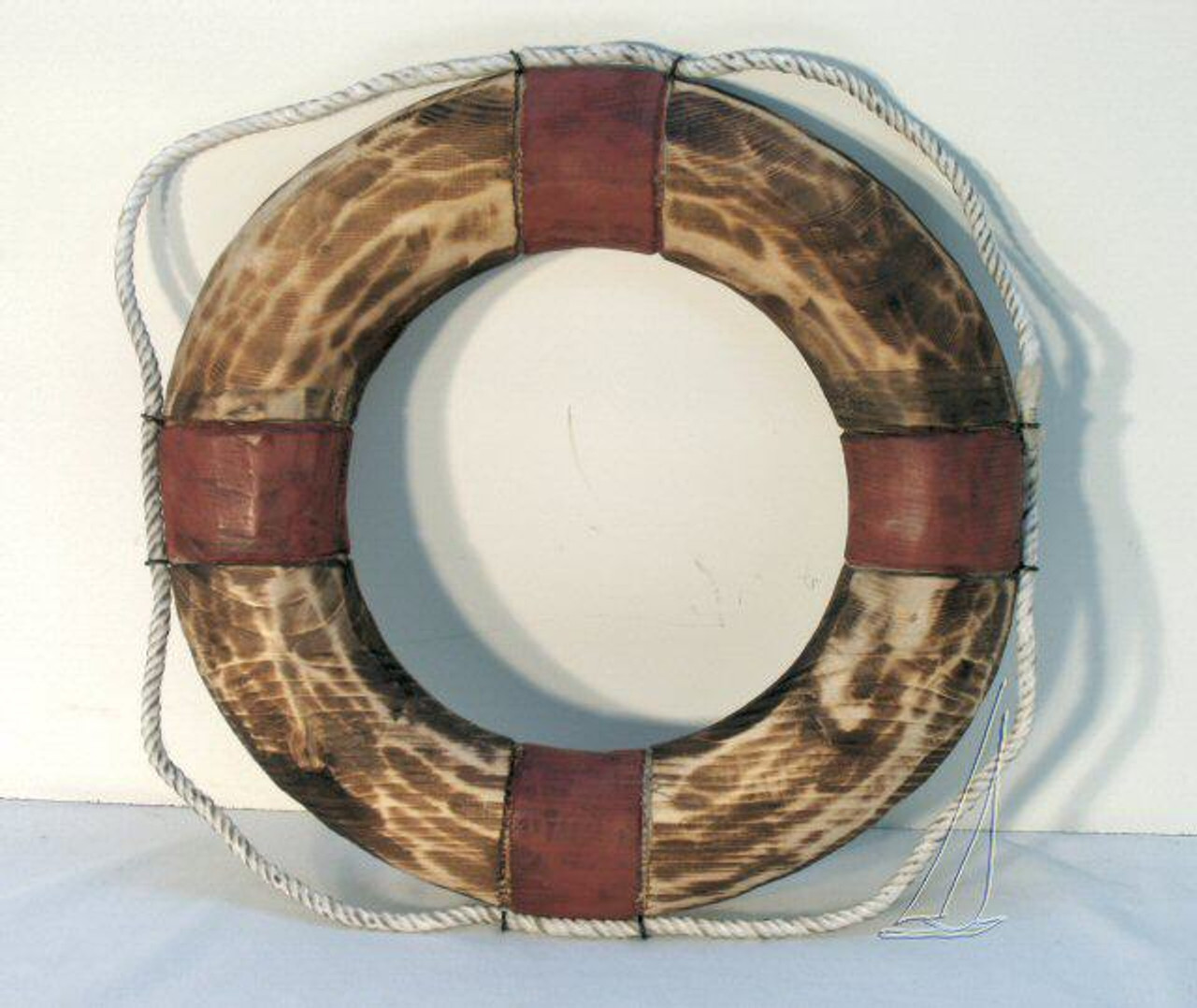 12 nautical antiqued wooden