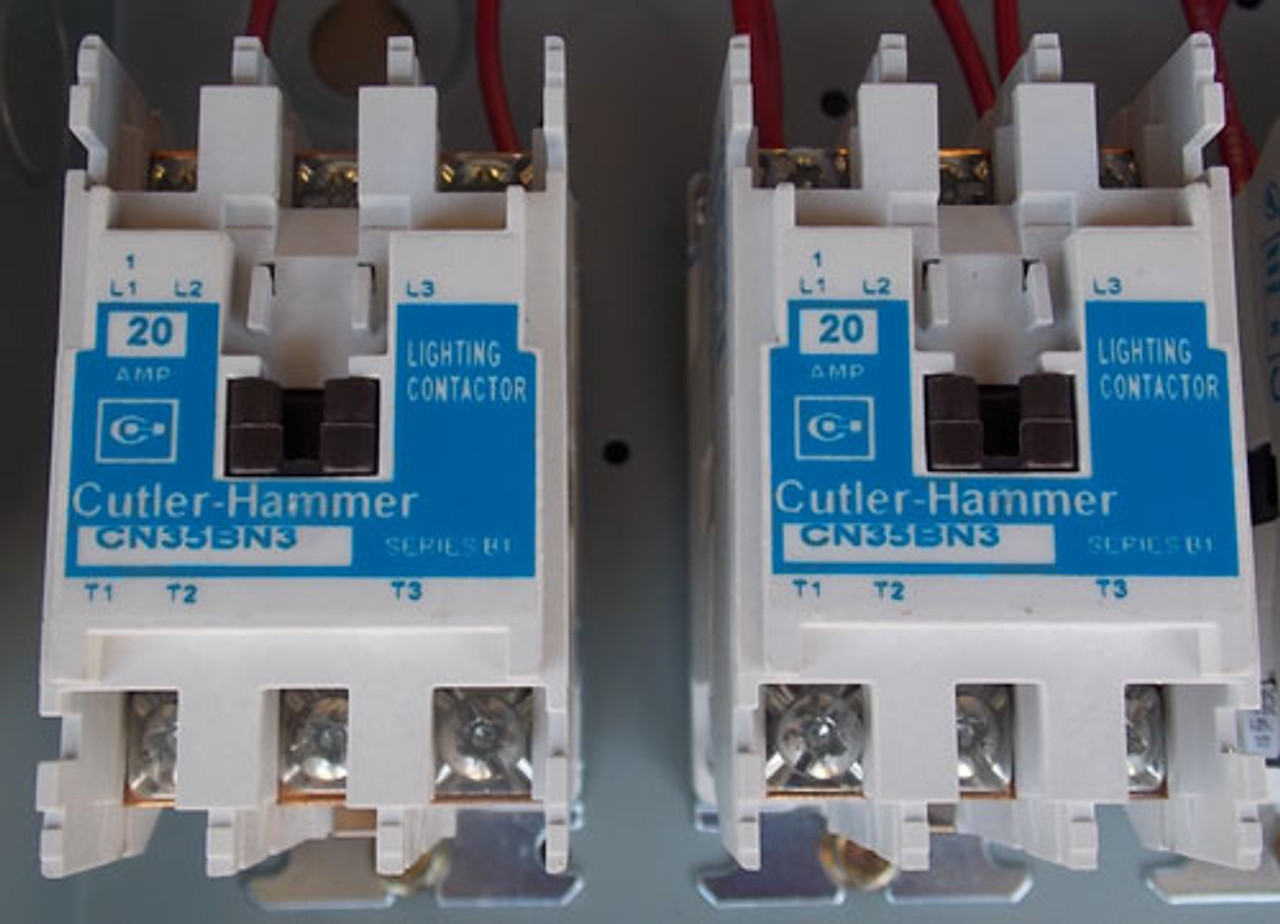 cutler hammer ecl03b1aba 20 amp 12 pole 120v coil lighting contactor n1 new