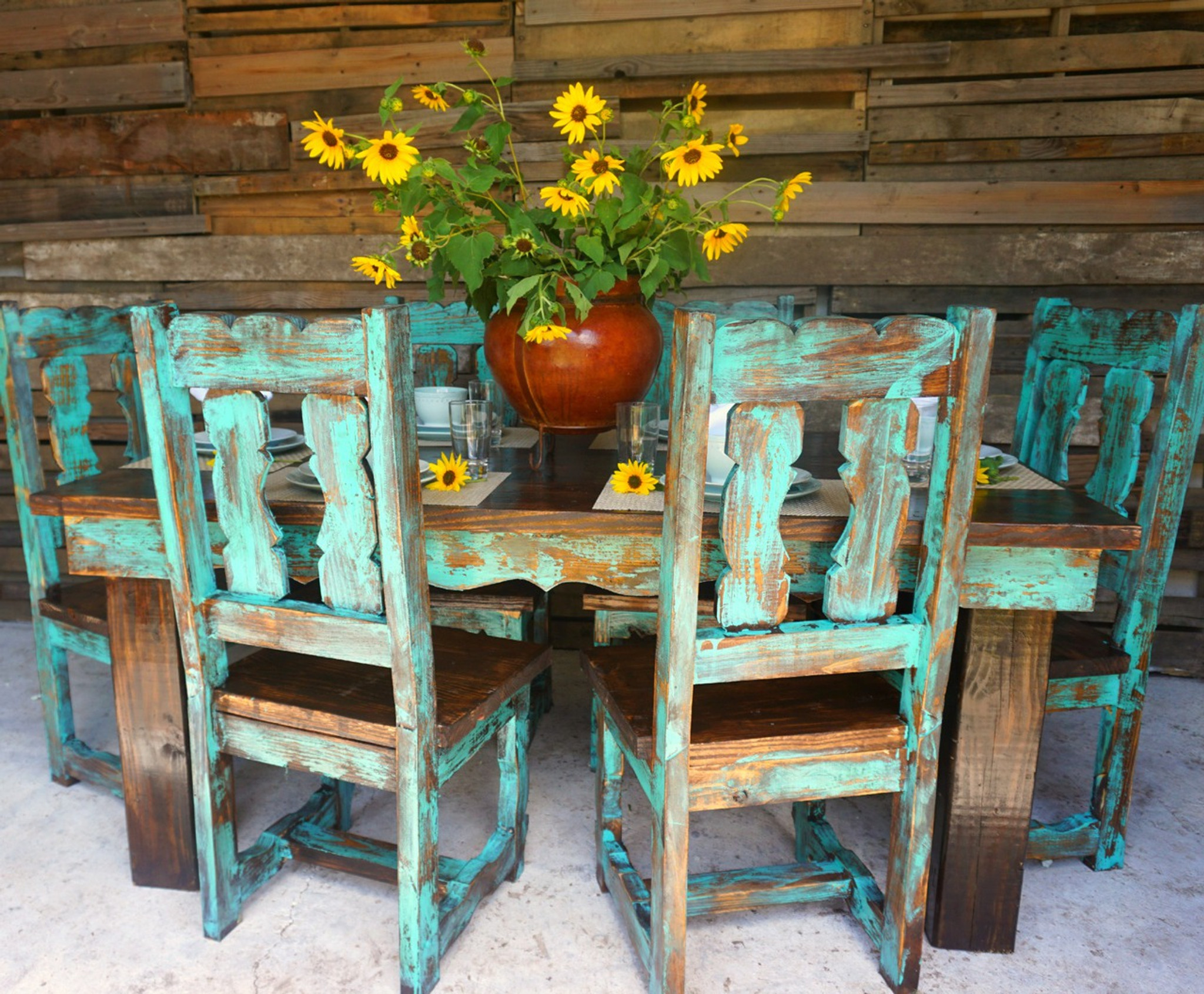 Teo Traditional Dining Table For 6 Sofia S Rustic Furniture