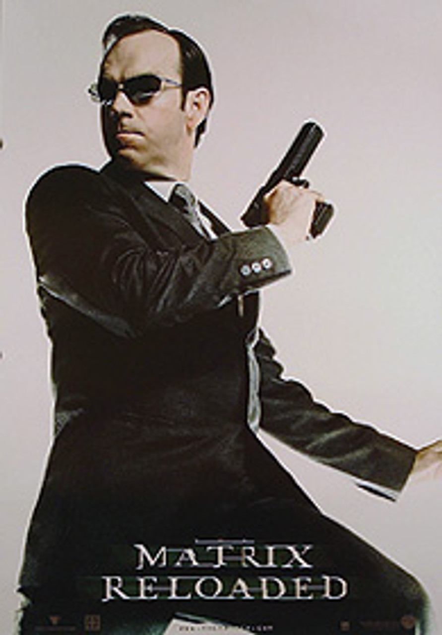 the matrix reloaded single sided reprint agent smith full body reprint poster