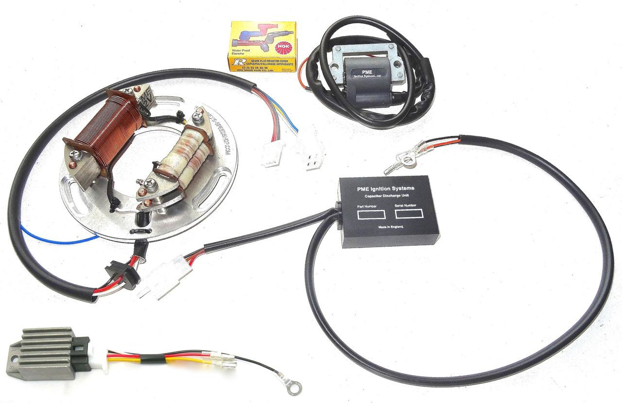 electronic ignition xt500 tt500 full power competition with 12 volt  [ 1280 x 830 Pixel ]