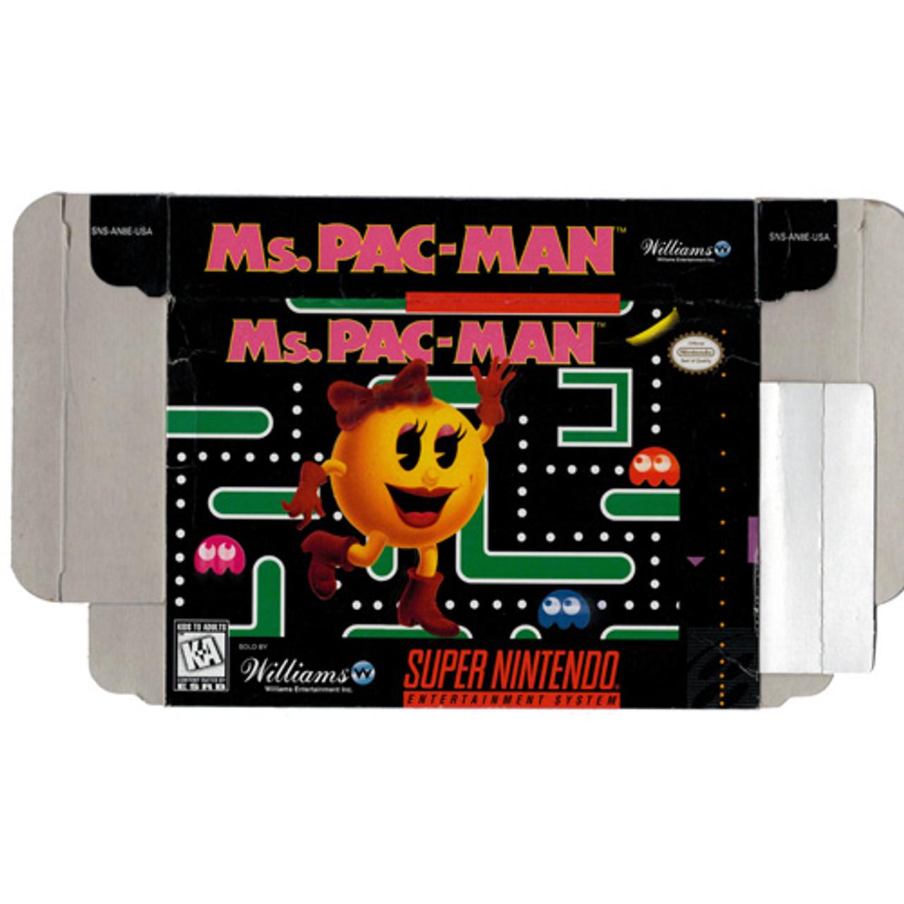Ms Pacman Super Nintendo Snes Box For Sale Dkoldies